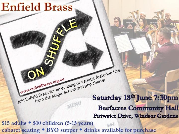 Enfield Brass 'on shuffle' @ Beefacres Community Hall | Windsor Gardens | South Australia | Australia